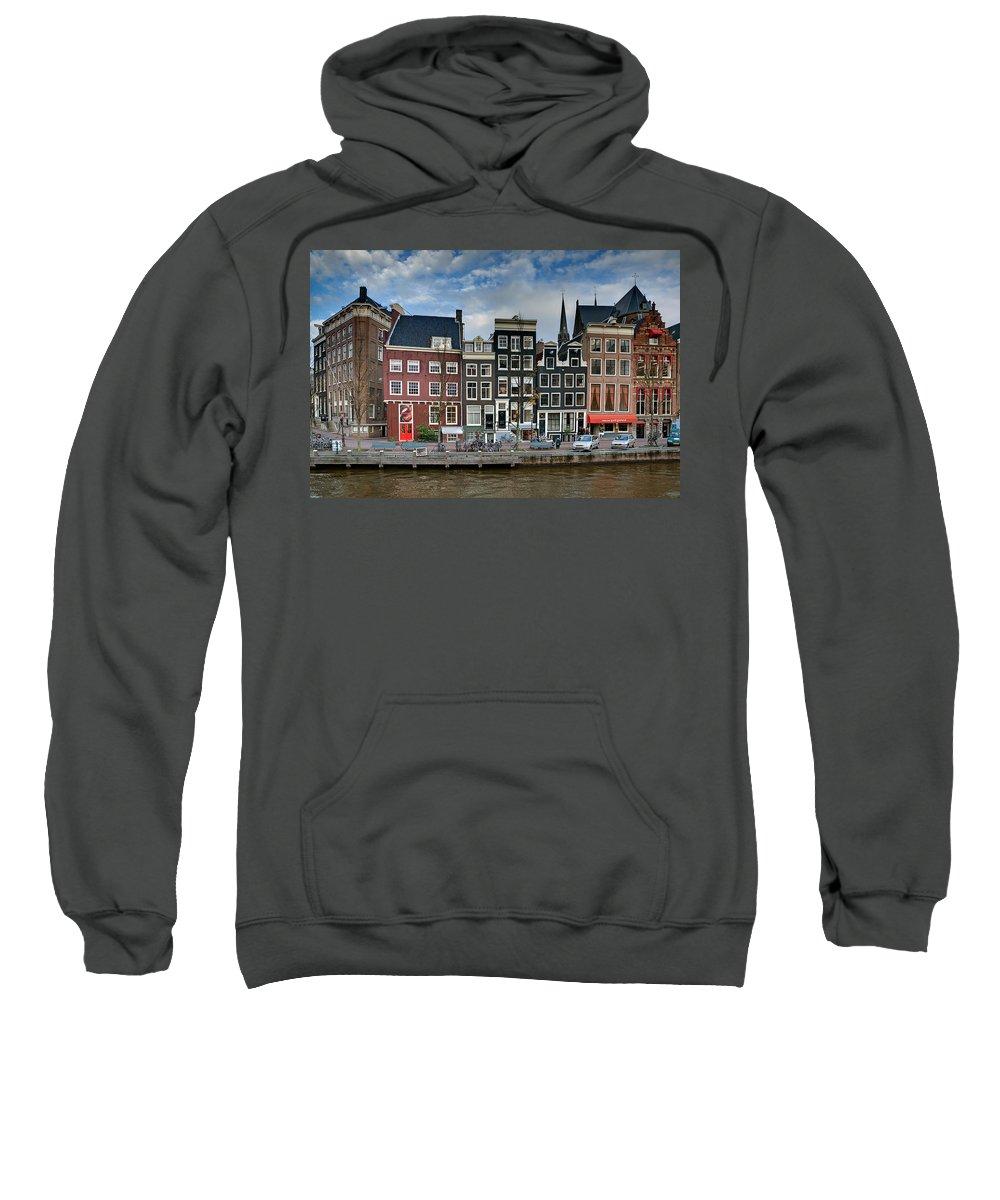 Holland Amsterdam Sweatshirt featuring the photograph Herengracht 411. Amsterdam by Juan Carlos Ferro Duque