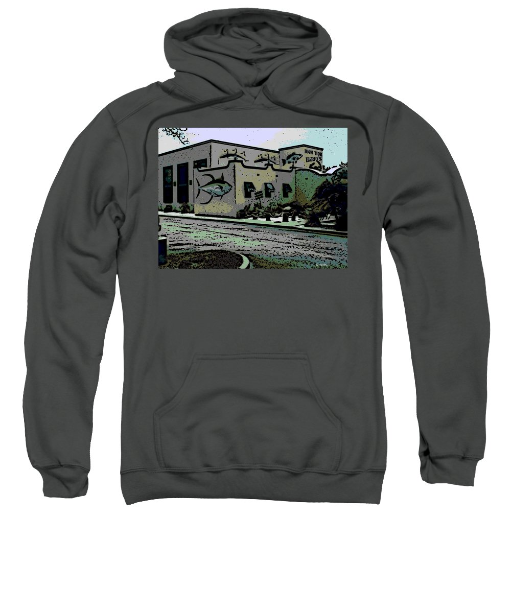 High Sweatshirt featuring the photograph High Tide Harry's by George Pedro