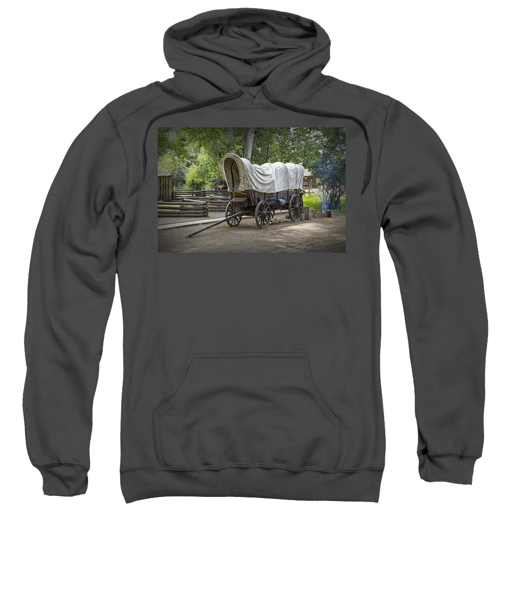 Art Sweatshirt featuring the photograph Historical Frontier Covered Wagon by Randall Nyhof