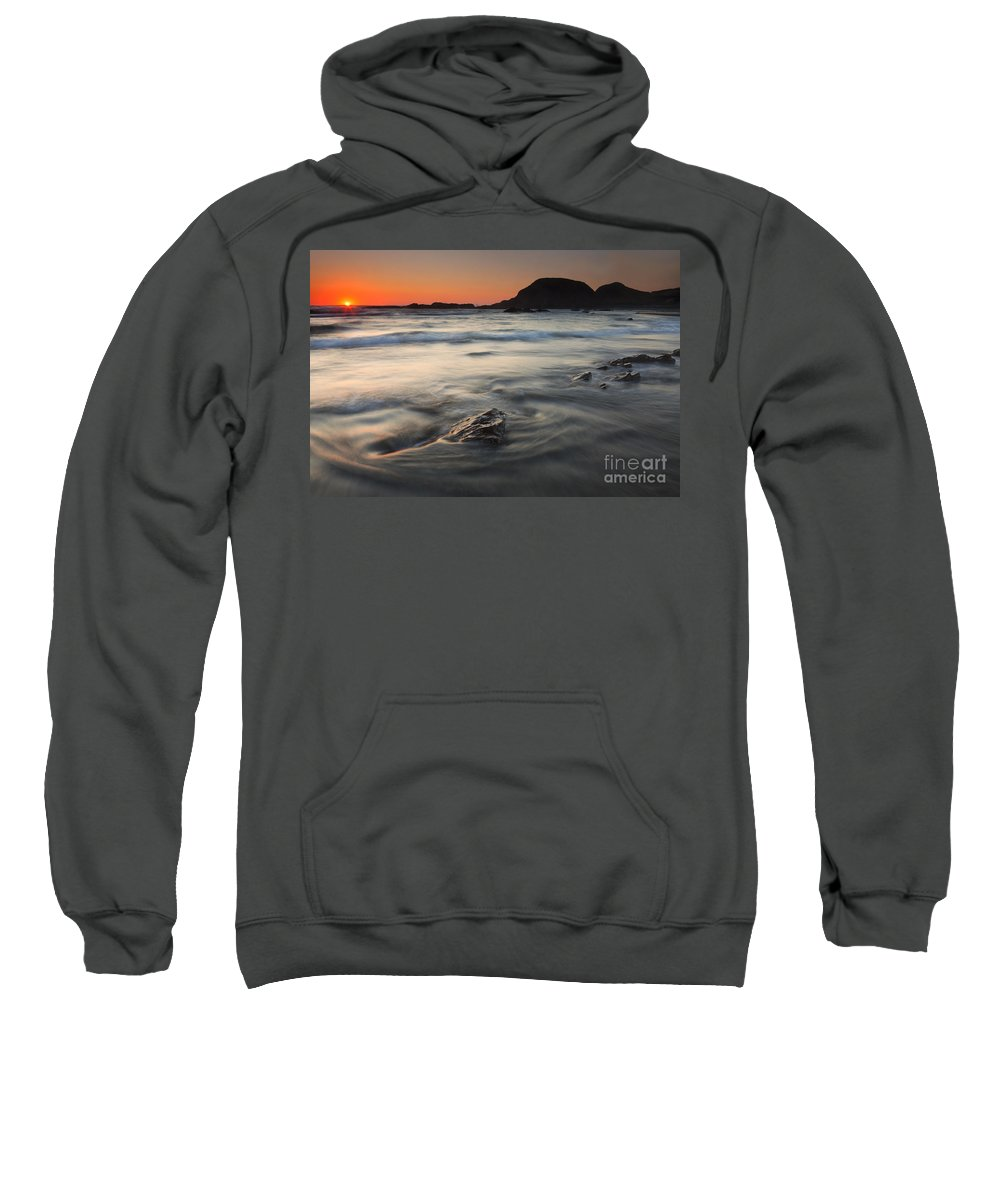 Seal Rock Sweatshirt featuring the photograph Holding Back The Sea by Mike Dawson