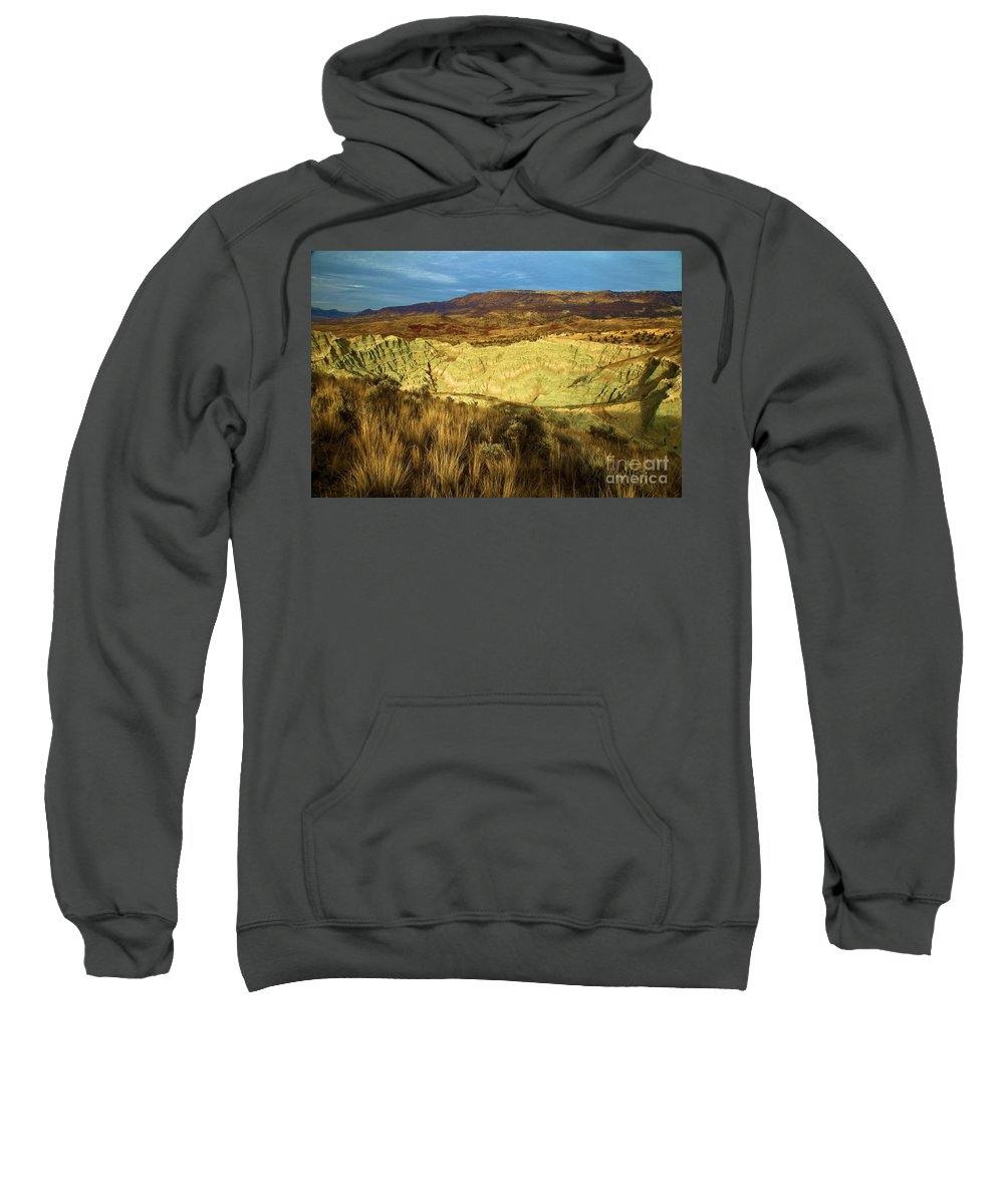 John Day Fossil Beds National Monument Sweatshirt featuring the photograph Hole In The Basin by Adam Jewell