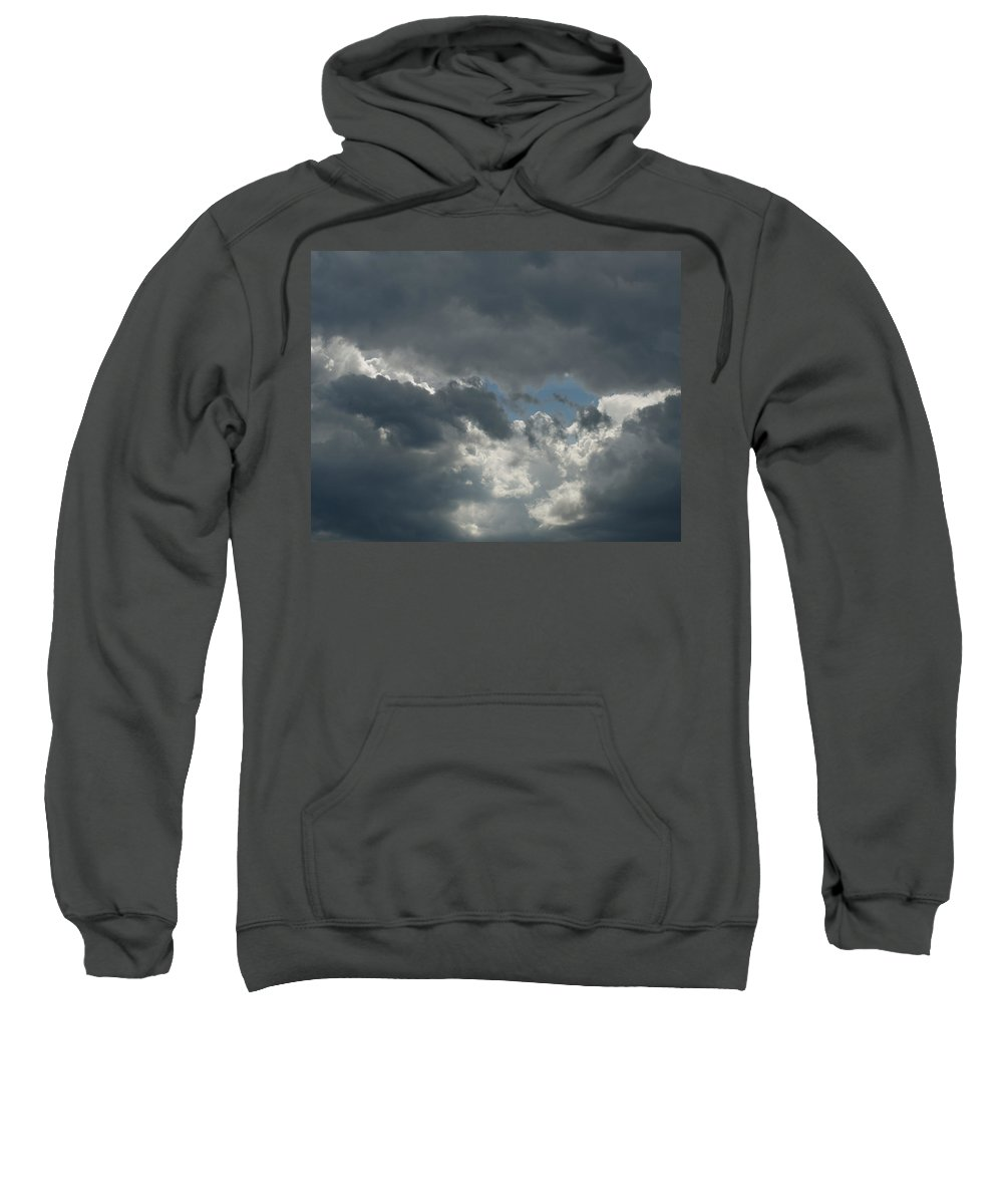 Photography Sweatshirt featuring the photograph Hole In The Clouds by Steven Natanson