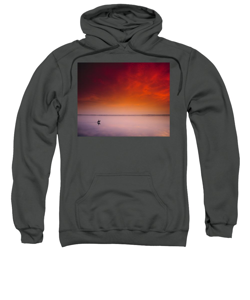 Beach Sweatshirt featuring the photograph Horse Riding, Strangford Lough, County by The Irish Image Collection
