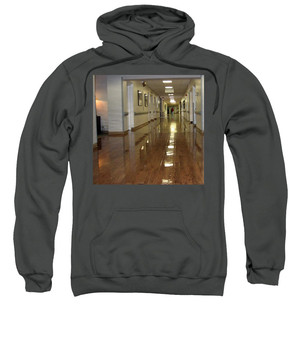Hallway Sweatshirt featuring the photograph Hospital Hallway by Amy Hosp