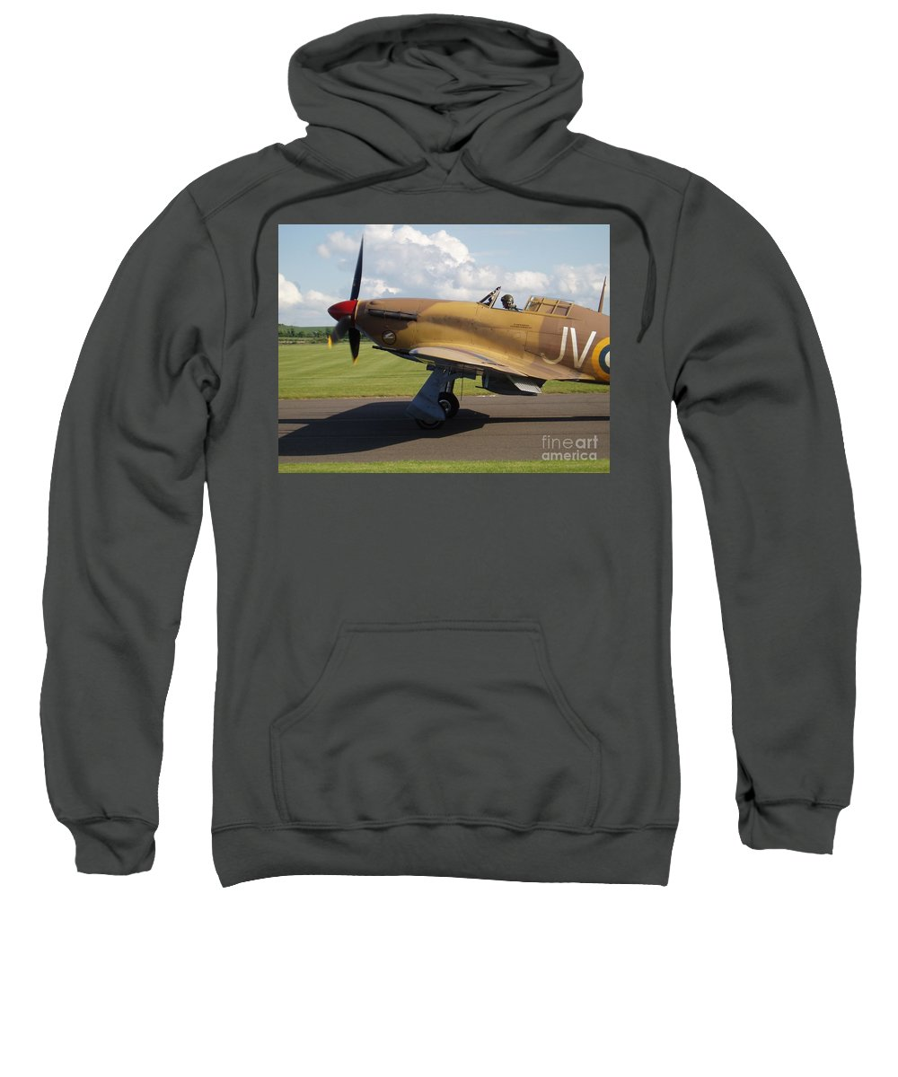 Aircraft Sweatshirt featuring the photograph Hurricane by John Chatterley