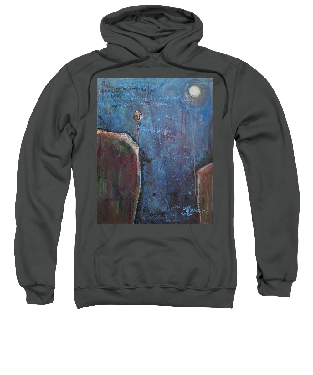 Love Sweatshirt featuring the painting I Know You Are Out There by Laurie Maves ART