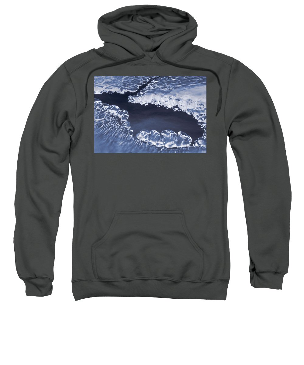 Light Sweatshirt featuring the photograph Ice Formations On Small Creek by Darwin Wiggett