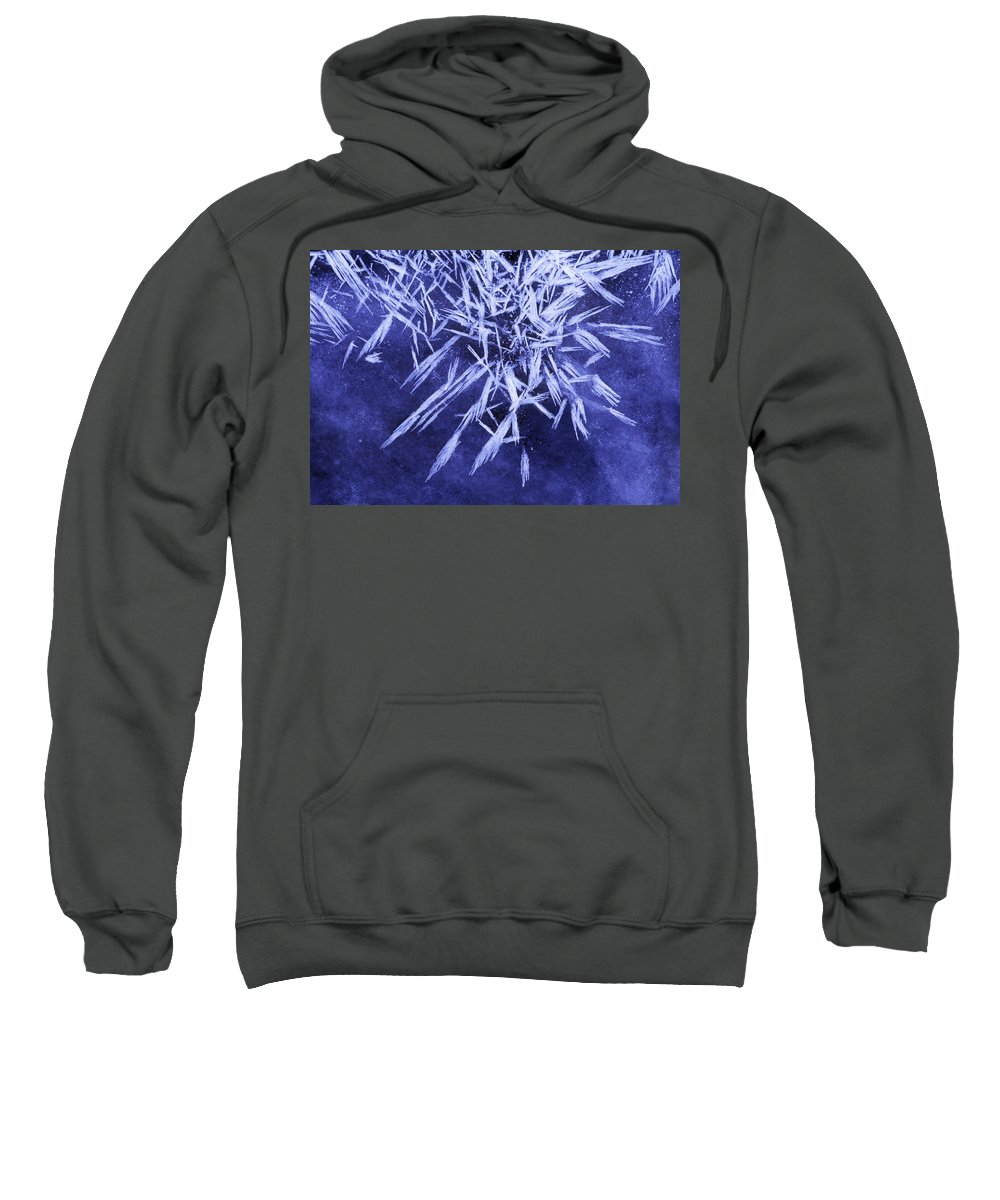 Light Sweatshirt featuring the photograph Ice Patterns On Wedge Pond by Darwin Wiggett