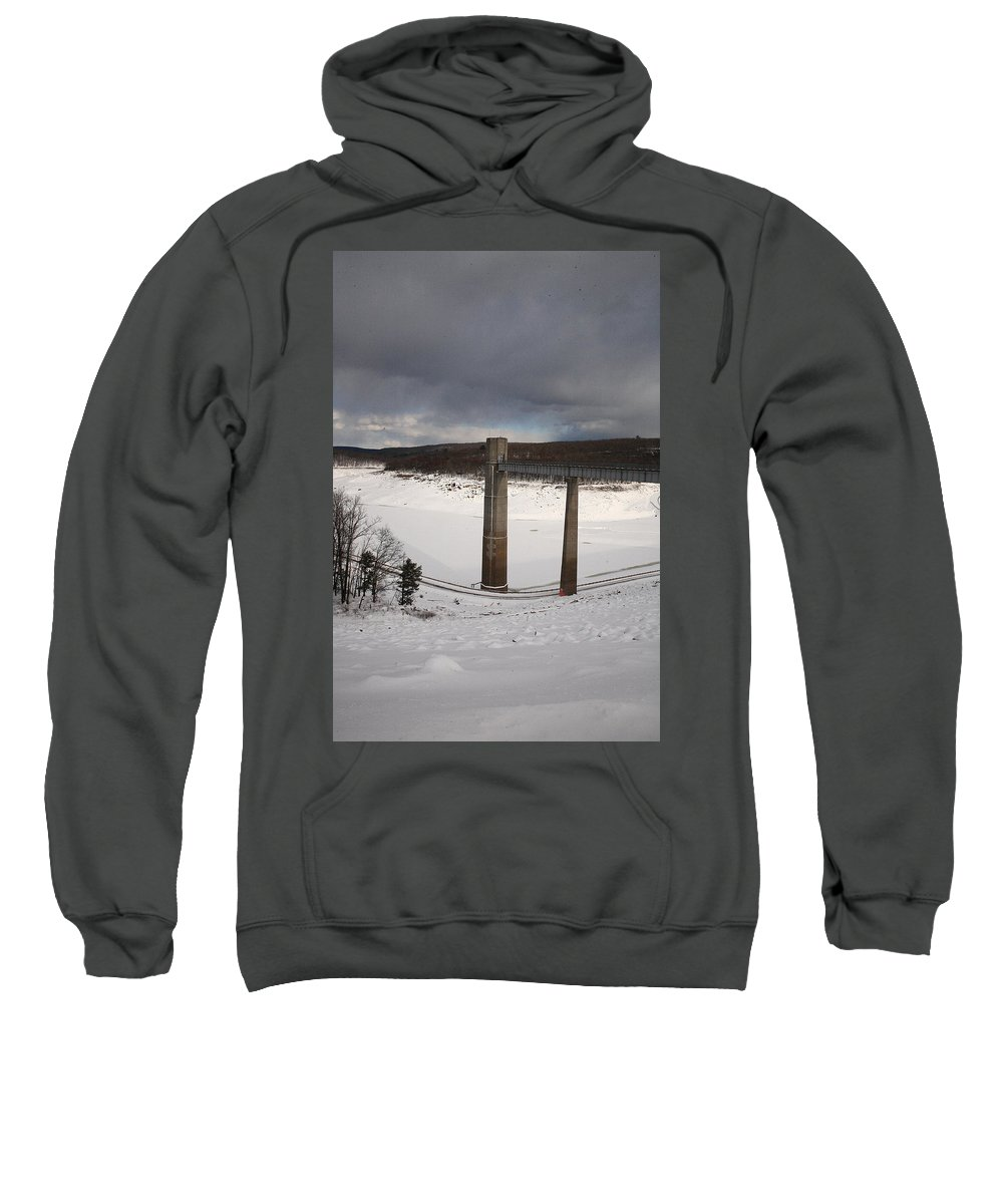 Ice Sweatshirt featuring the photograph Ice Tower Catwalk by Maglioli Studios