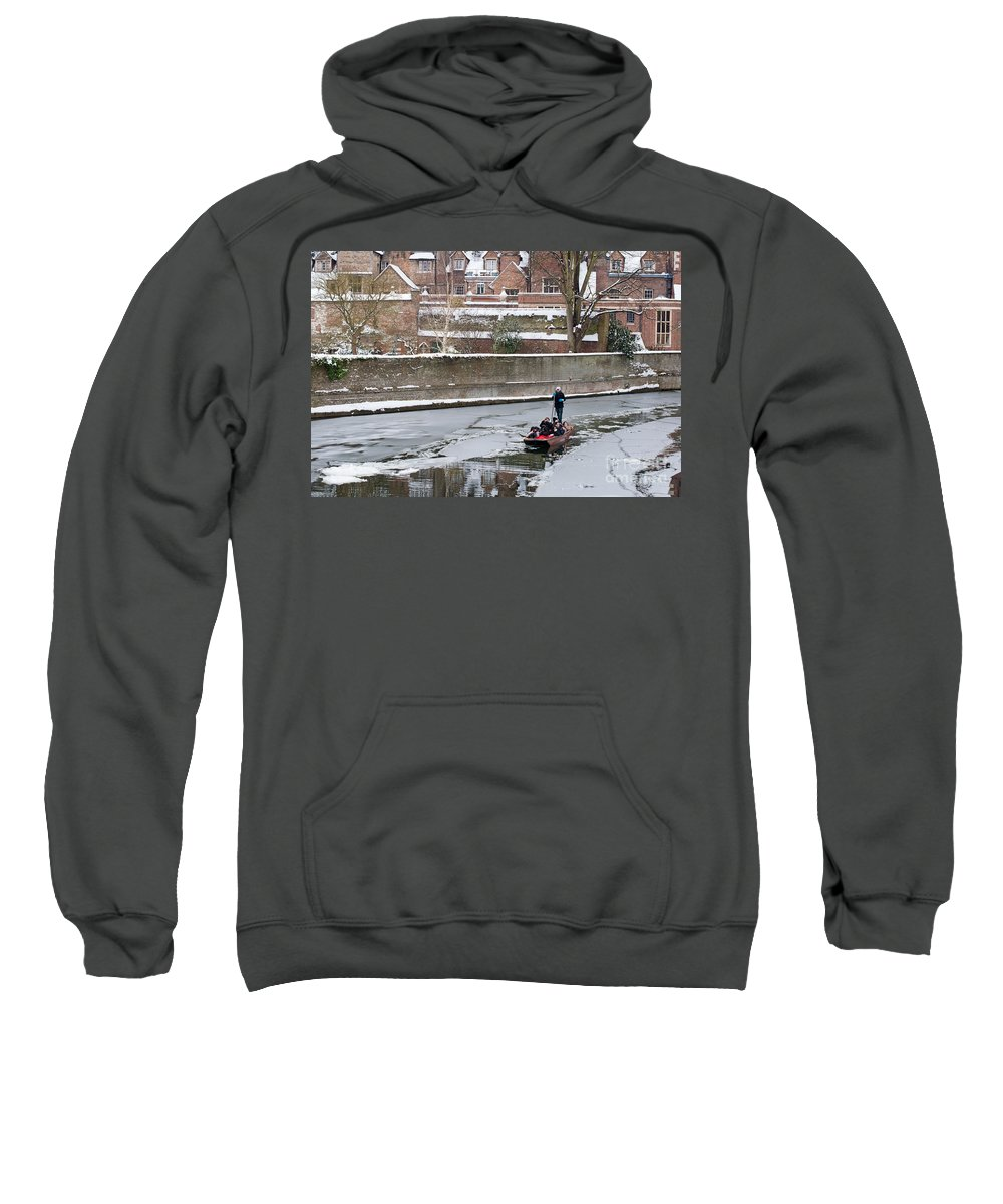 Anglia Sweatshirt featuring the photograph Icy River by Andrew Michael