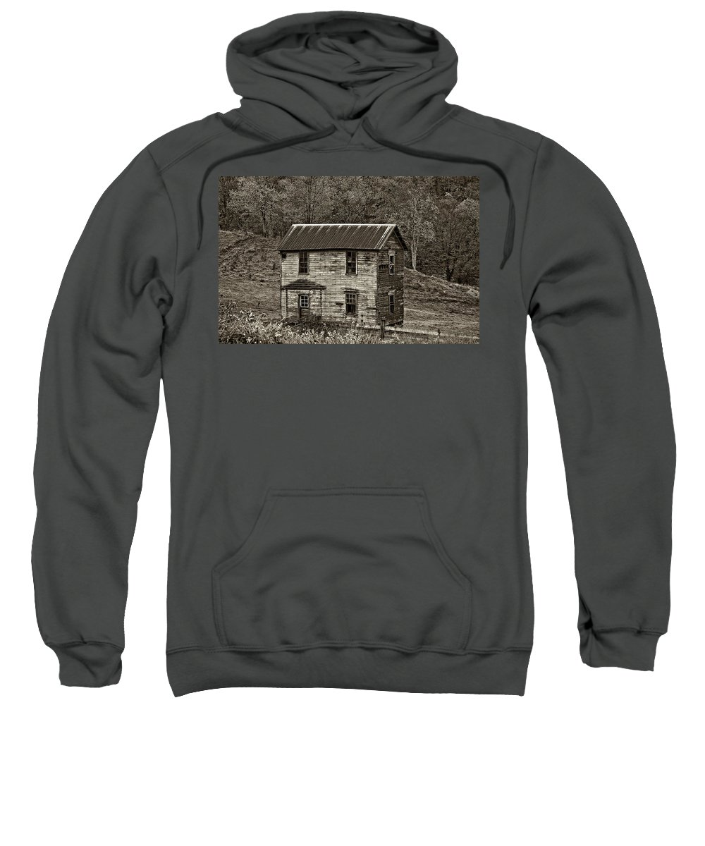 Glady Sweatshirt featuring the photograph If These Walls Could Talk Sepia by Steve Harrington