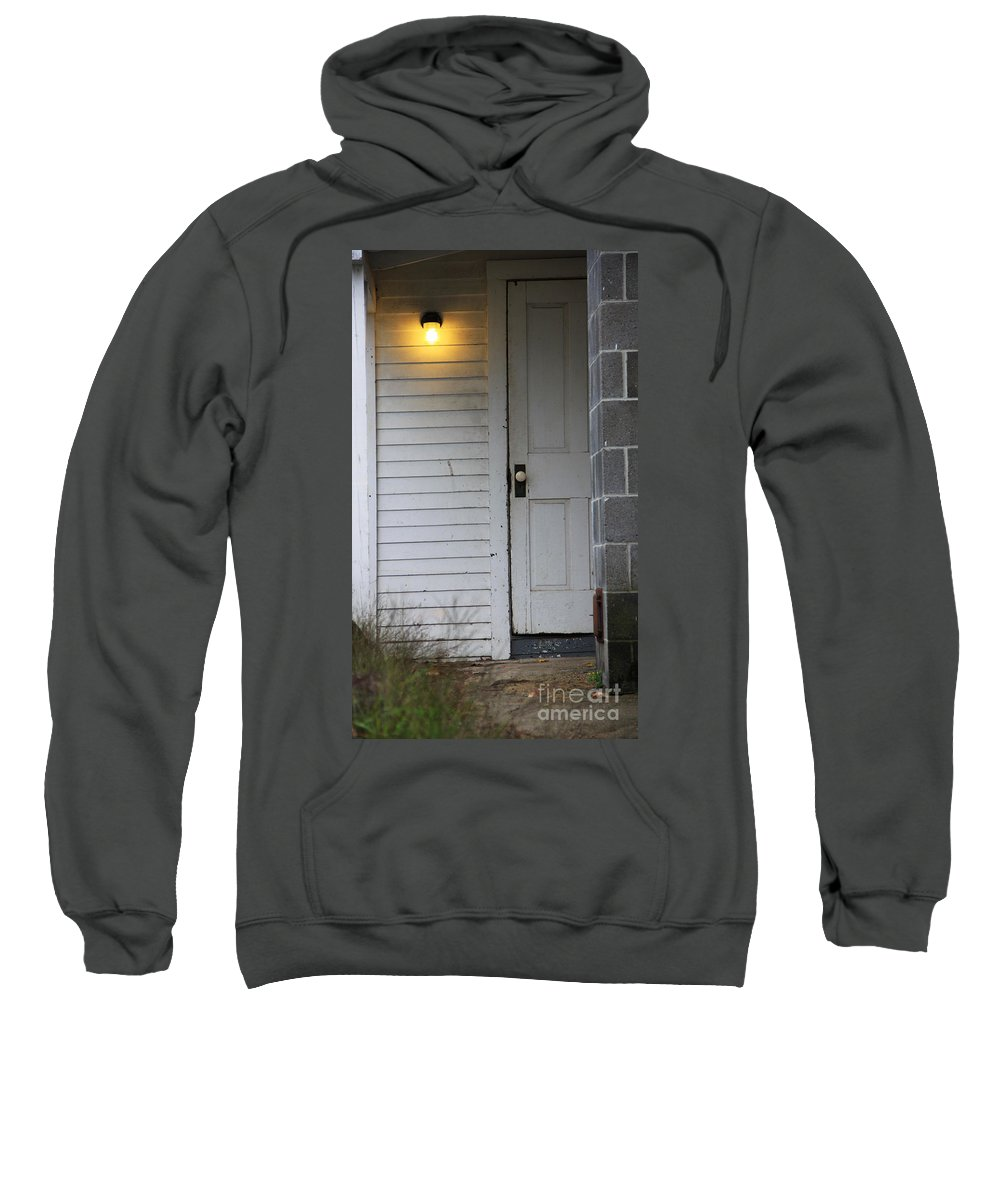 Leave The Light On Sweatshirt featuring the photograph Ill Leave The Light On by Michael Mooney