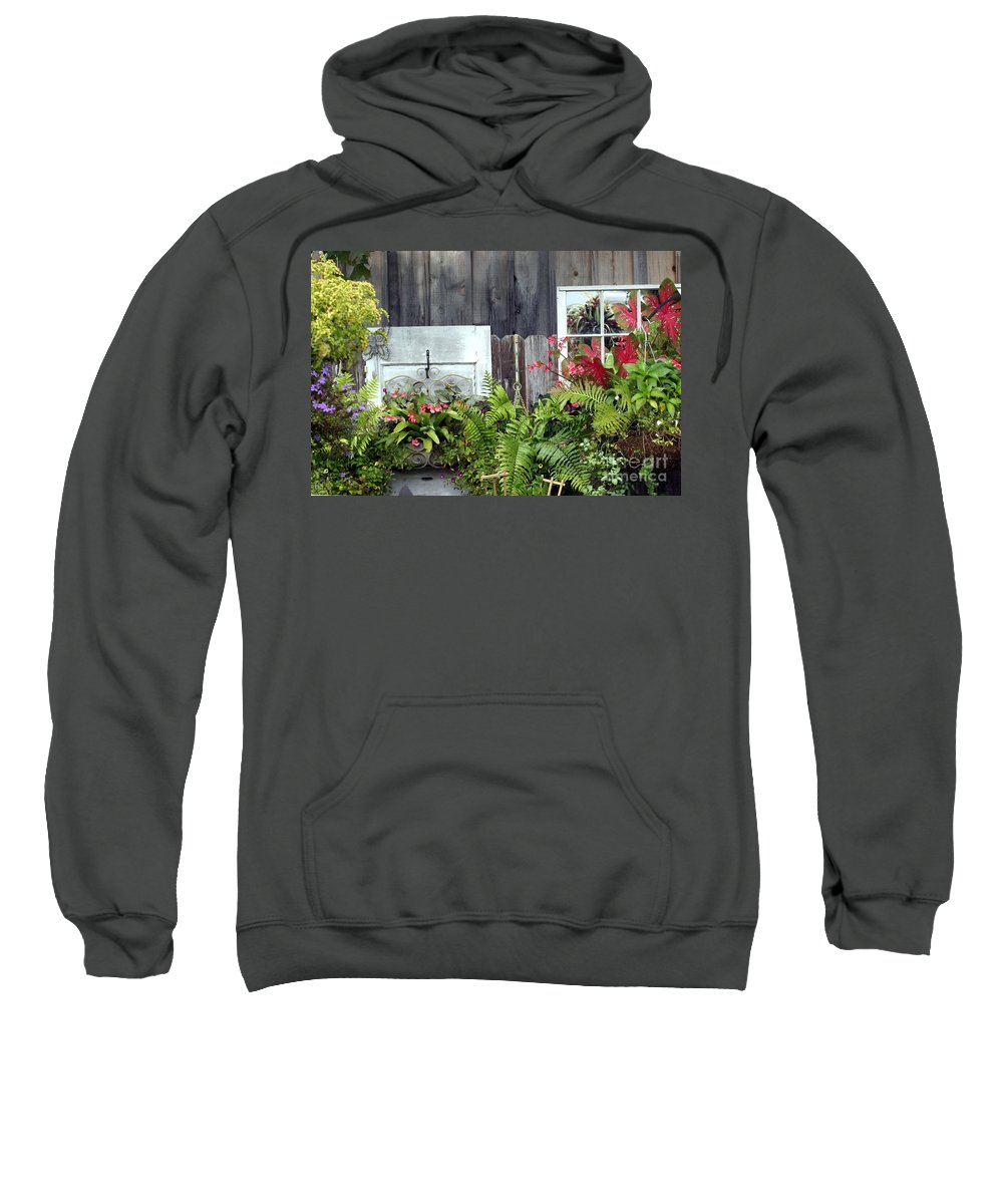 Garden Sweatshirt featuring the photograph In The Garden by Living Color Photography Lorraine Lynch
