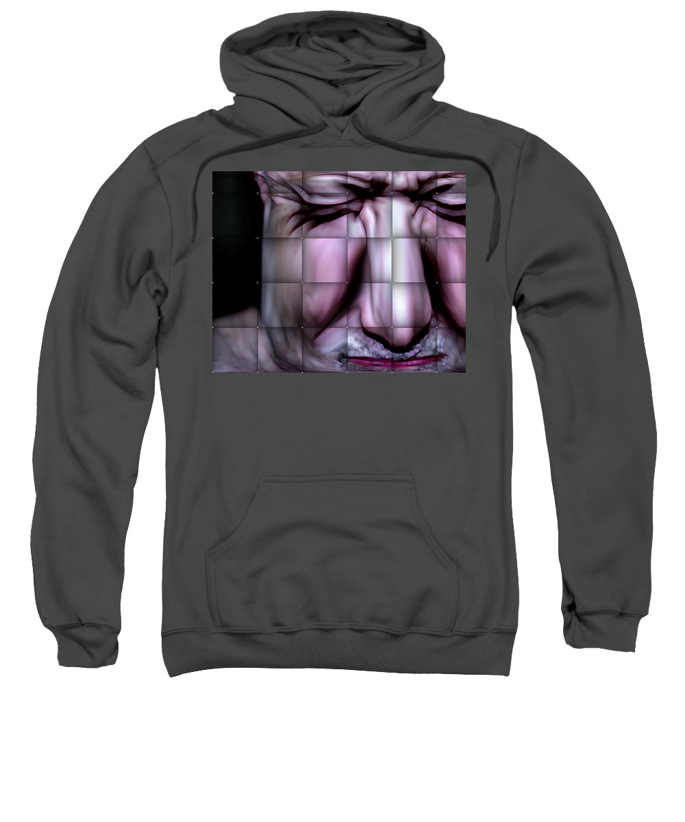 Sweatshirt featuring the mixed media In The Moment by Terence Morrissey