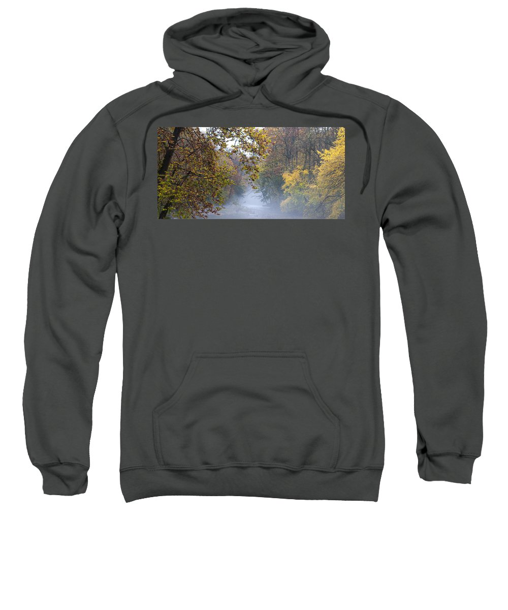 Into The Mist Sweatshirt featuring the photograph Into The Mist by Bill Cannon