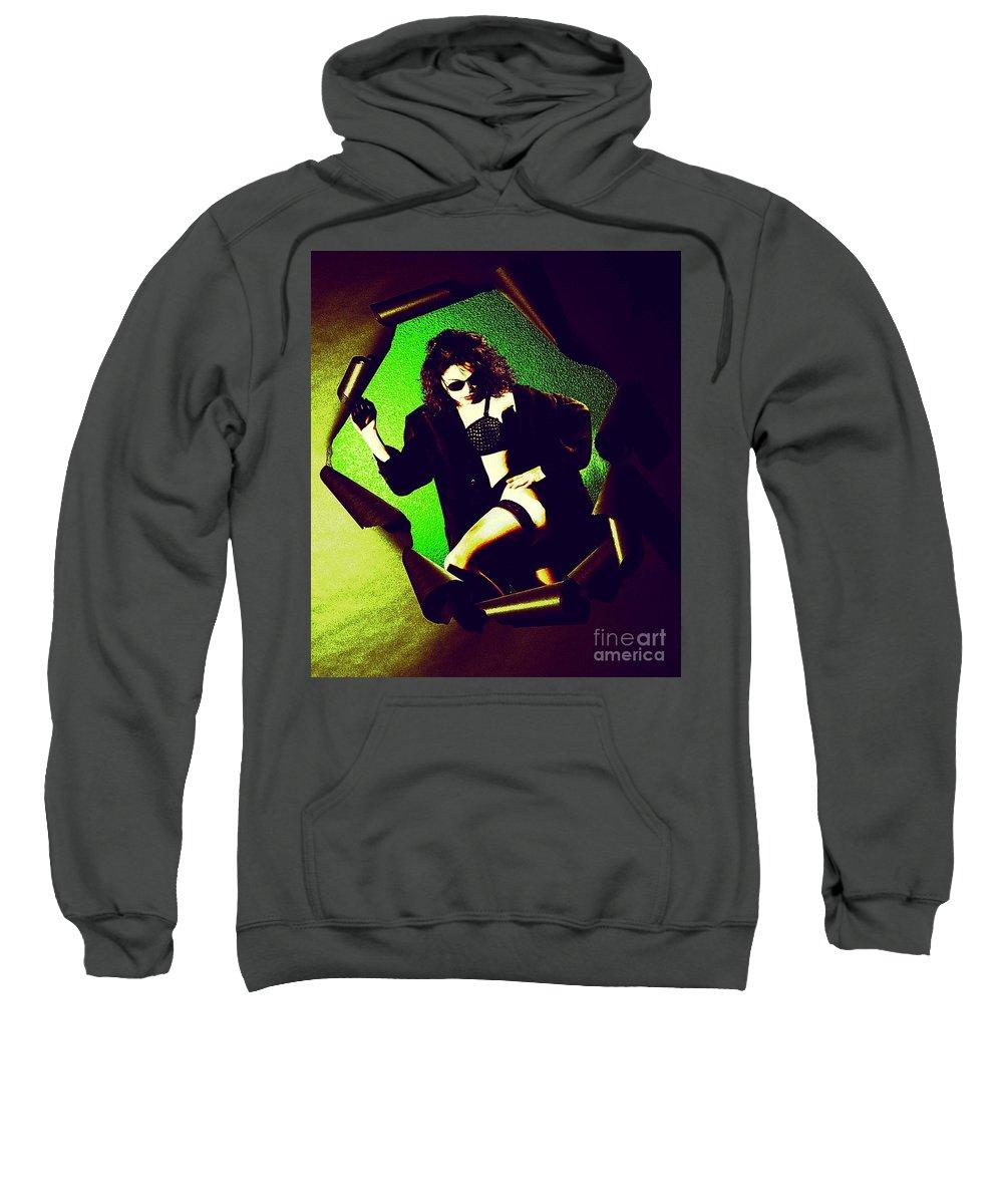 Model Sweatshirt featuring the photograph Jane Joker 3 by Gary Gingrich Galleries