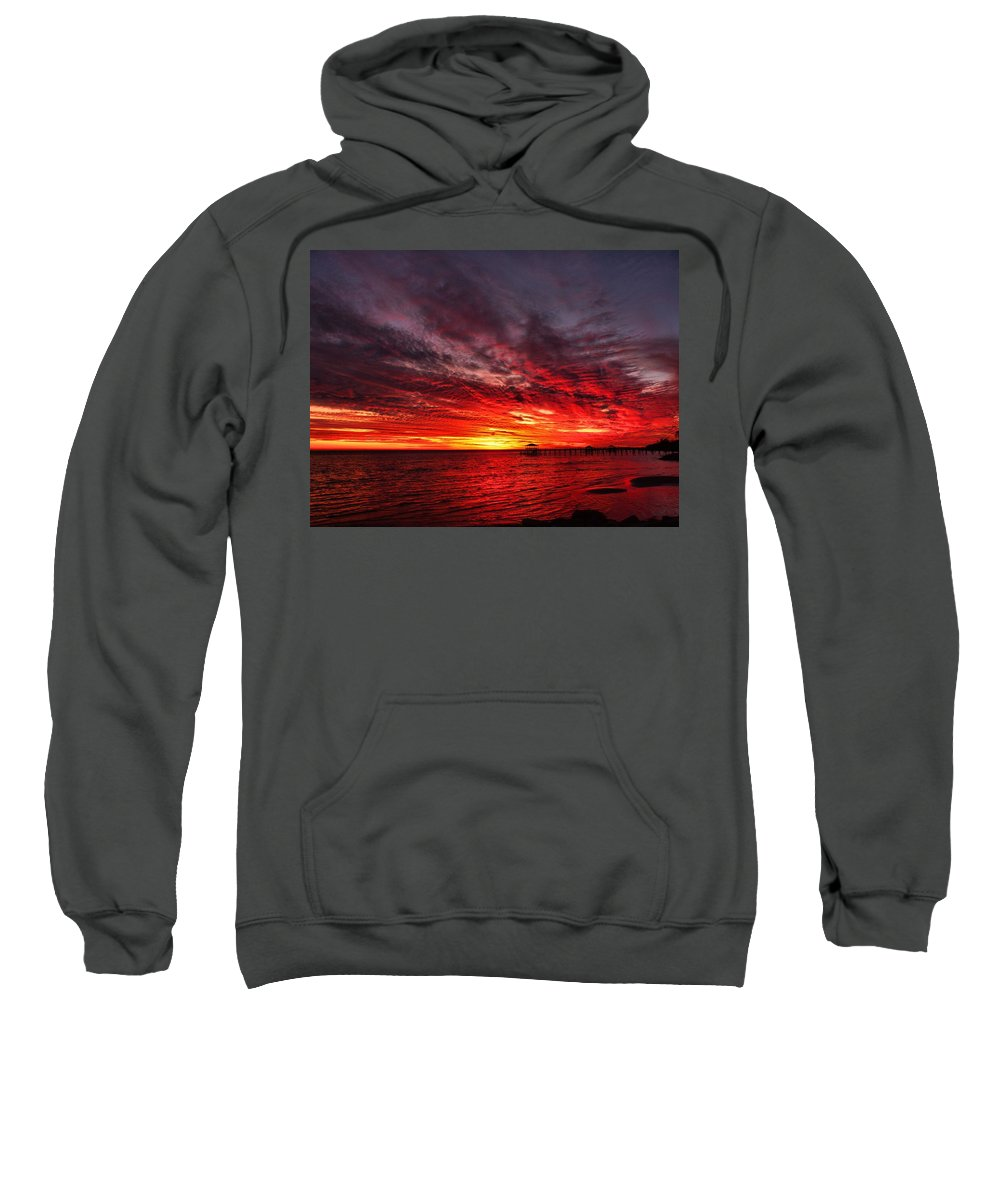 Sunset Sweatshirt featuring the photograph January Sunset by Anthony Walker Sr