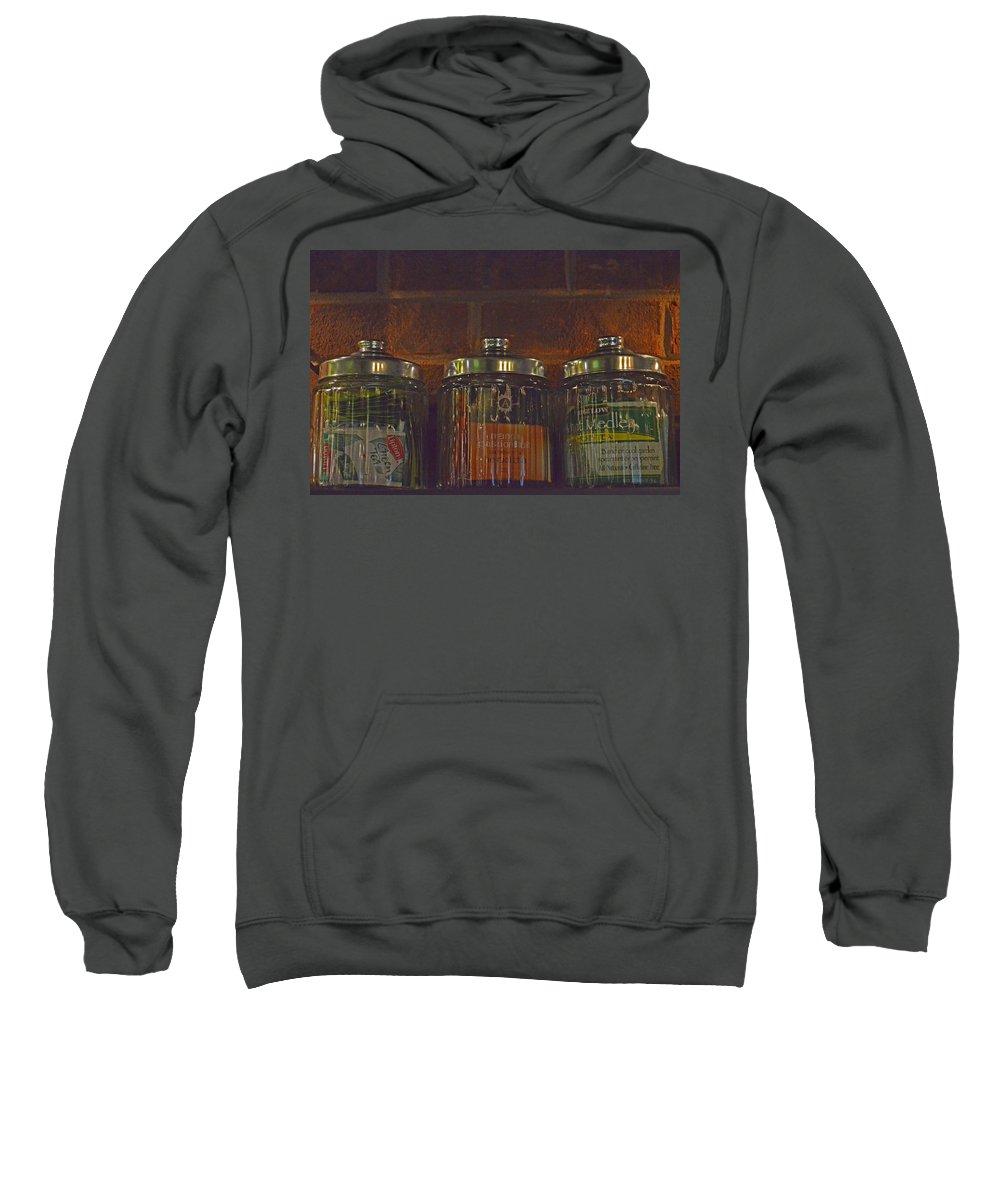Tea Sweatshirt featuring the photograph Jars Of Assorted Teas by Sandi OReilly