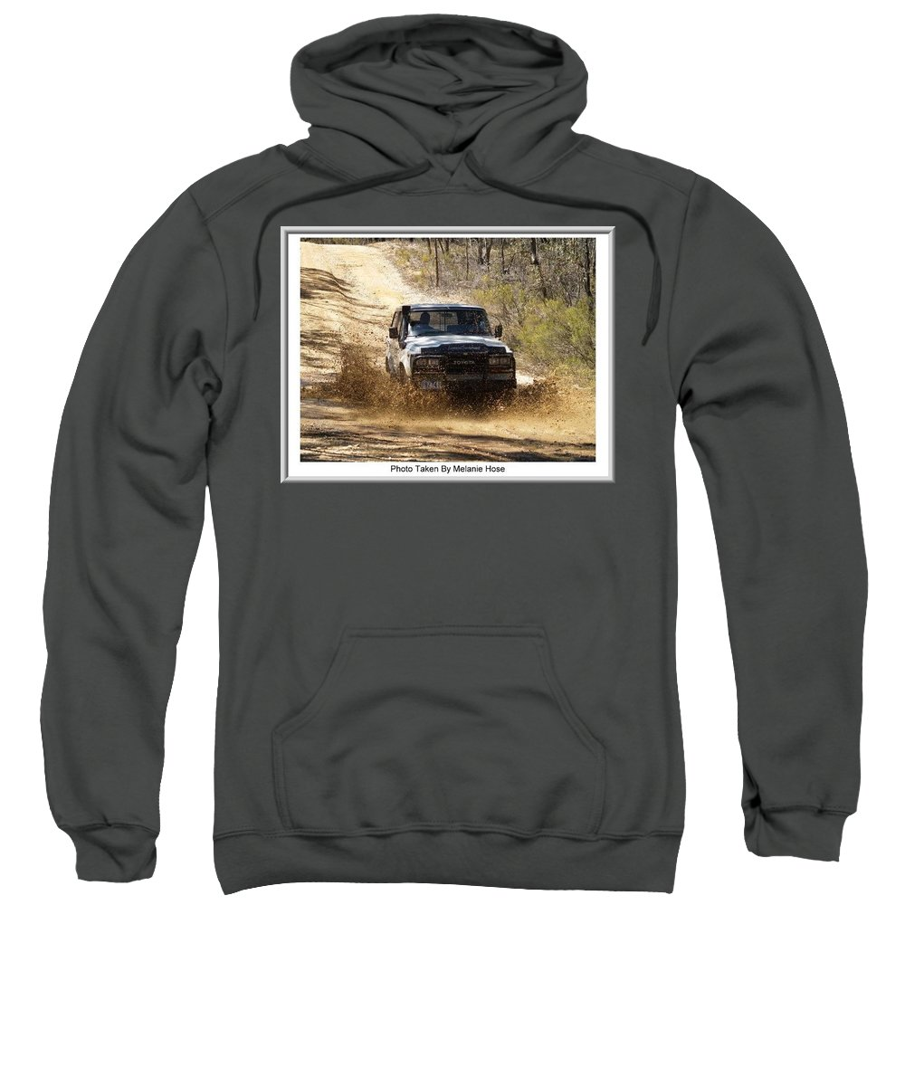 Custome Artwork Sweatshirt featuring the photograph Jeep In The Mud by Digital Oil