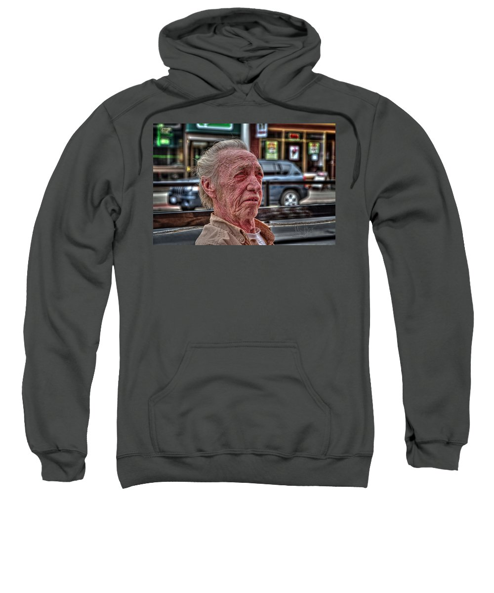 Napanee Sweatshirt featuring the photograph Jim At The Loaf N' Ale by John Herzog