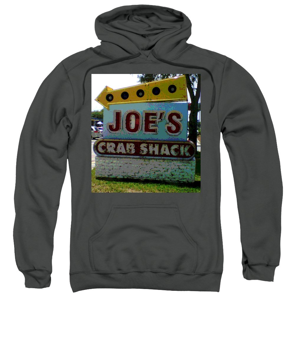 Joe's Crab Shack Sweatshirt featuring the photograph Joe's Crab Shack by George Pedro