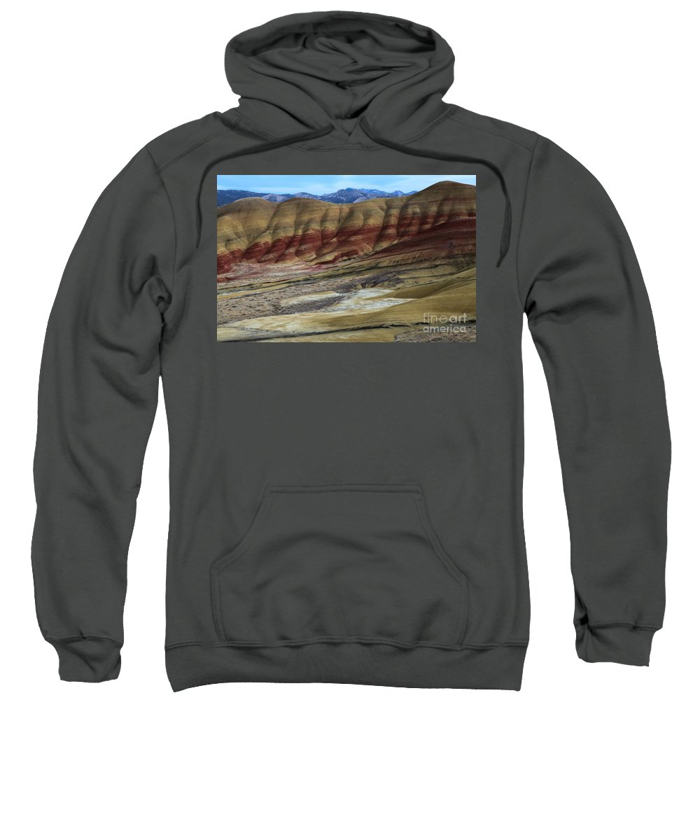 John Day Fossil Beds Sweatshirt featuring the photograph John Day Painted Hills by Adam Jewell