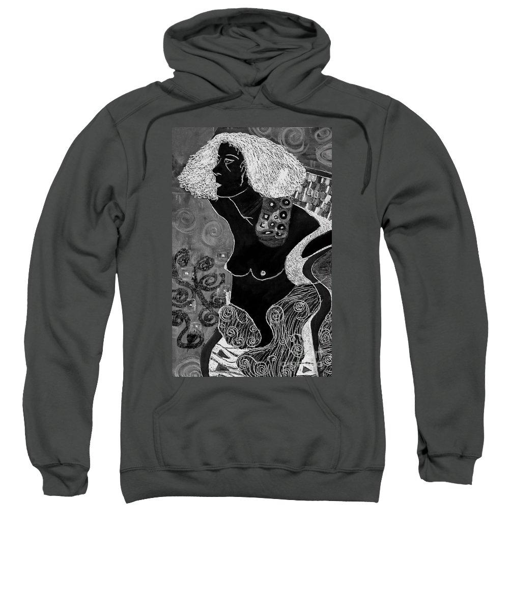 Art Sweatshirt featuring the digital art Judith After Gustav Klimt by Sheila Laurens
