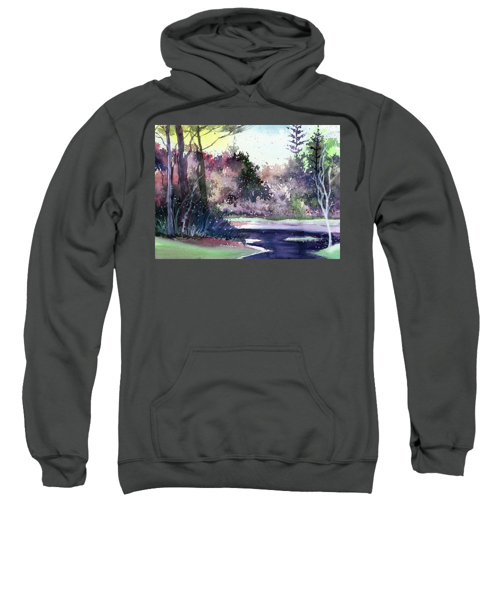 Forest Sweatshirt featuring the painting Jungle 1 by Anil Nene