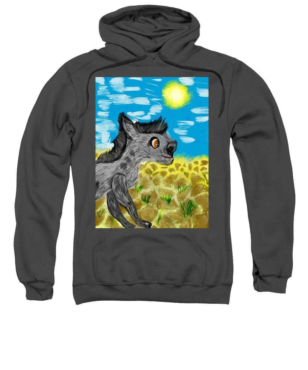 Sweatshirt featuring the digital art Jungle by Mathieu Lalonde