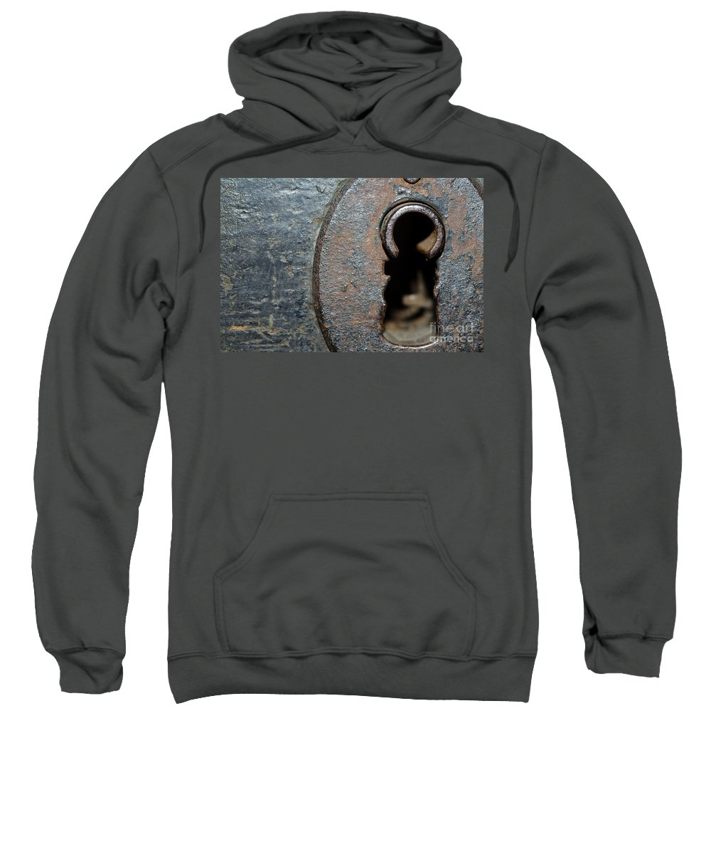 Door Sweatshirt featuring the photograph Keyhole by Mats Silvan