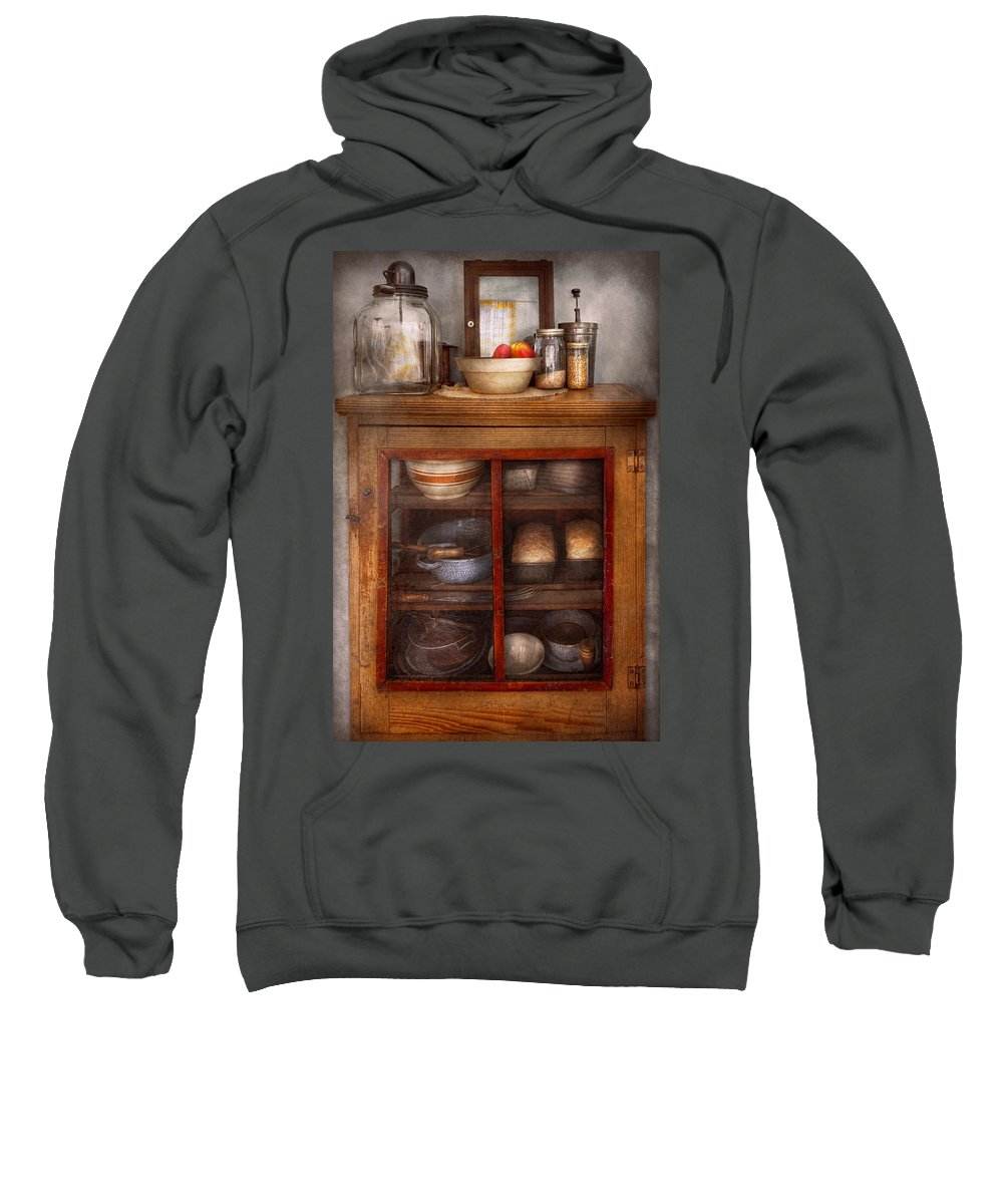 Kitchen Sweatshirt featuring the photograph Kitchen - The Cooling Cabinet by Mike Savad