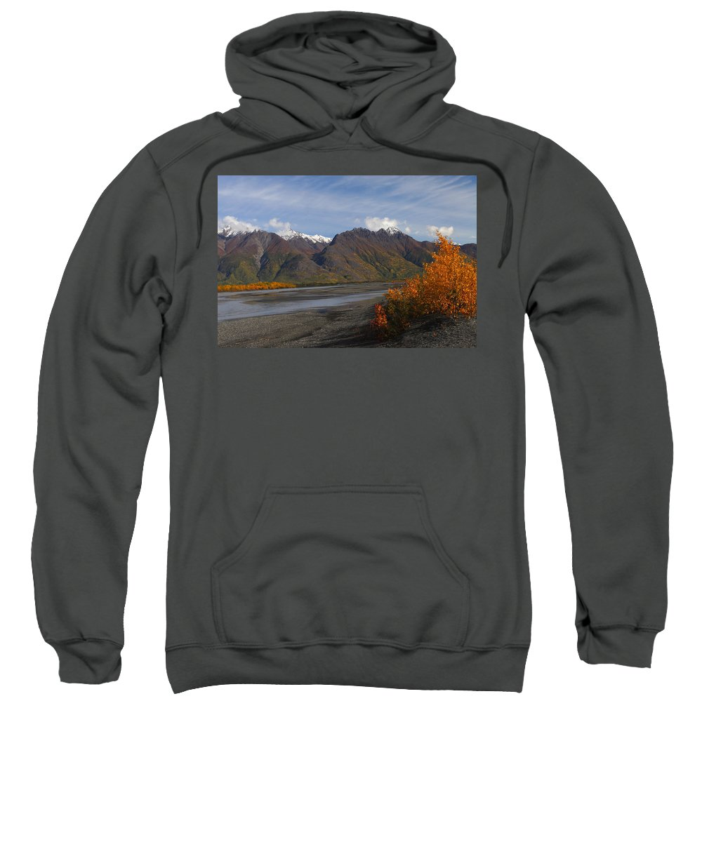 Doug Lloyd Sweatshirt featuring the photograph Knik River by Doug Lloyd