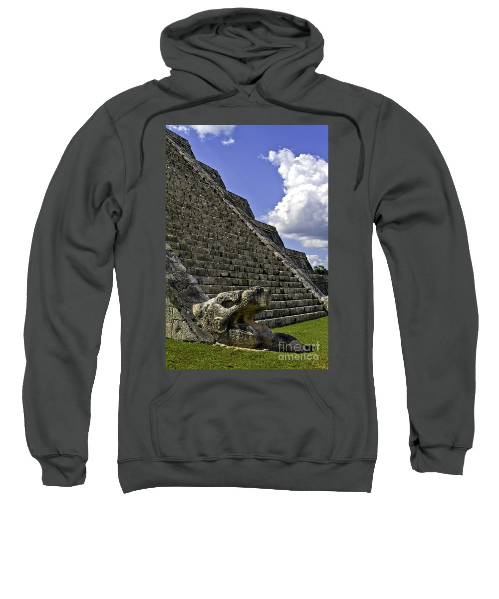 Chichen Itza Sweatshirt featuring the photograph Kukulkan by Ken Frischkorn