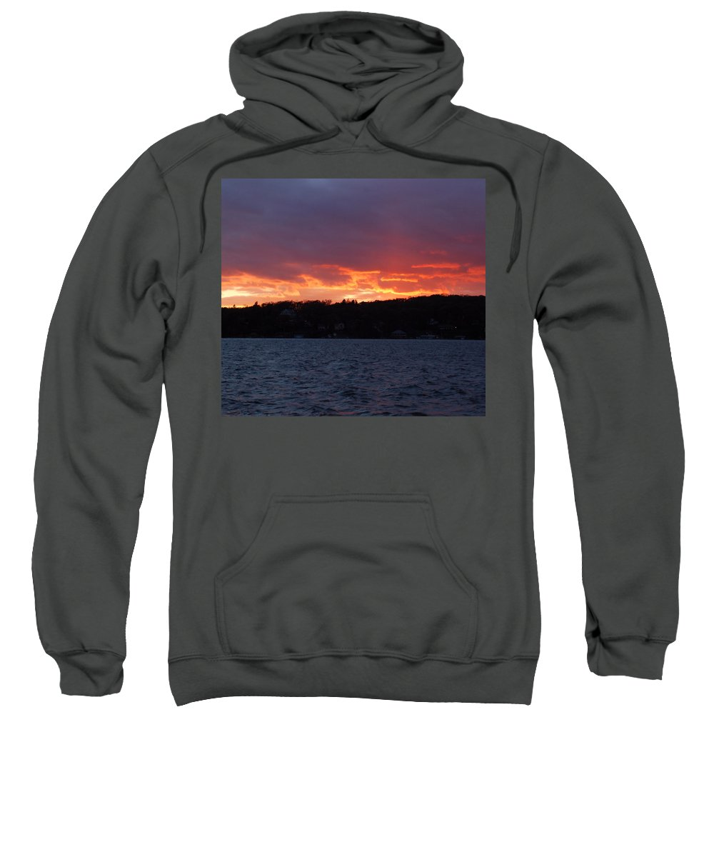 Water Sweatshirt featuring the photograph Lake Sunset by Richard Bryce and Family