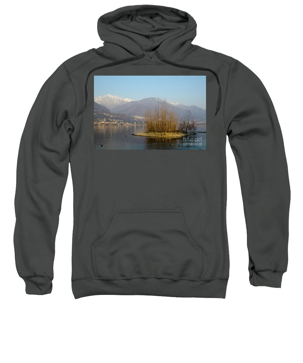 Island Sweatshirt featuring the photograph Lake With Island by Mats Silvan