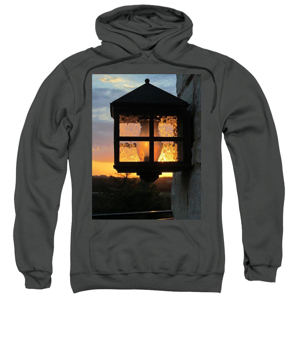 Lantern Sweatshirt featuring the photograph Lantern In The Sunset by Elizabeth Rose
