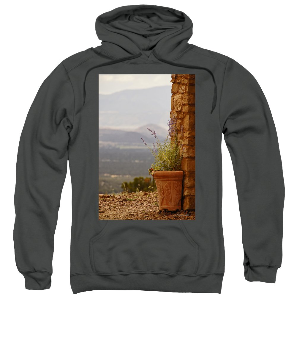 Rock Sweatshirt featuring the photograph Lavender And Rock by Mick Anderson