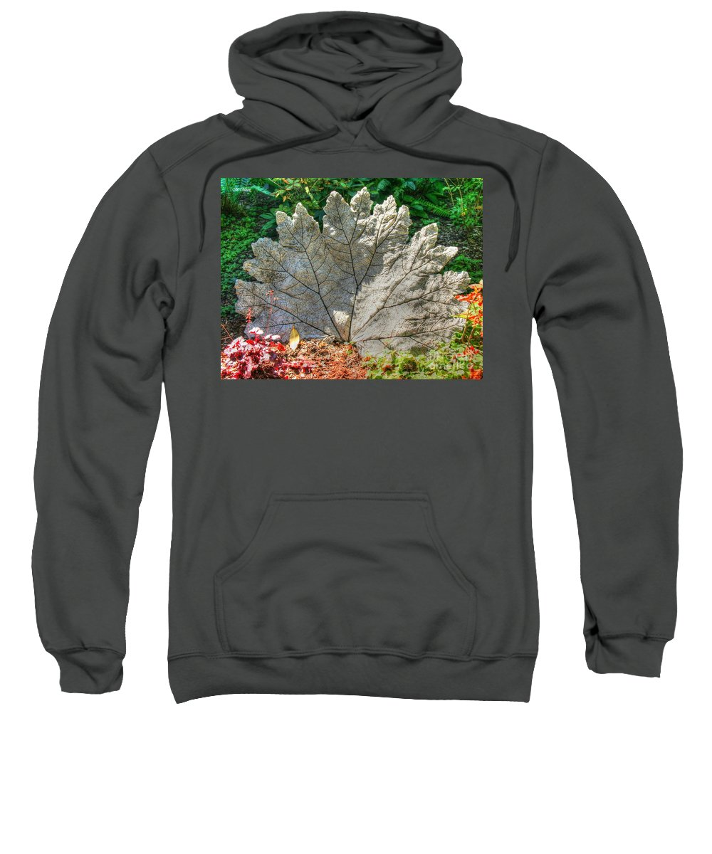 Leaf Sweatshirt featuring the photograph Leaf Art by Tap On Photo