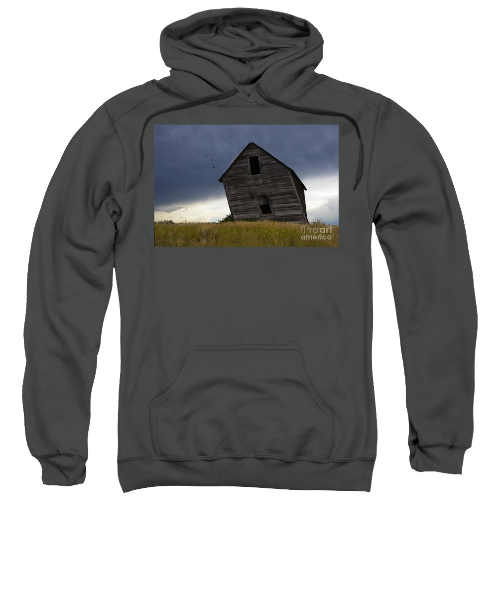 Homestead Sweatshirt featuring the photograph Leaning A Little 2 by Bob Christopher