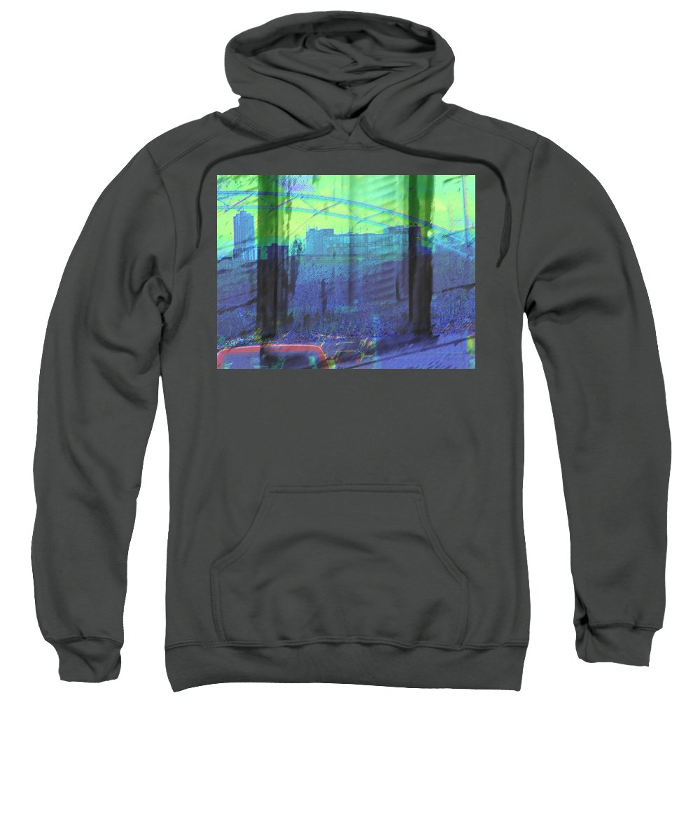 Abstract Sweatshirt featuring the photograph Leaving The Country For The City by Lenore Senior