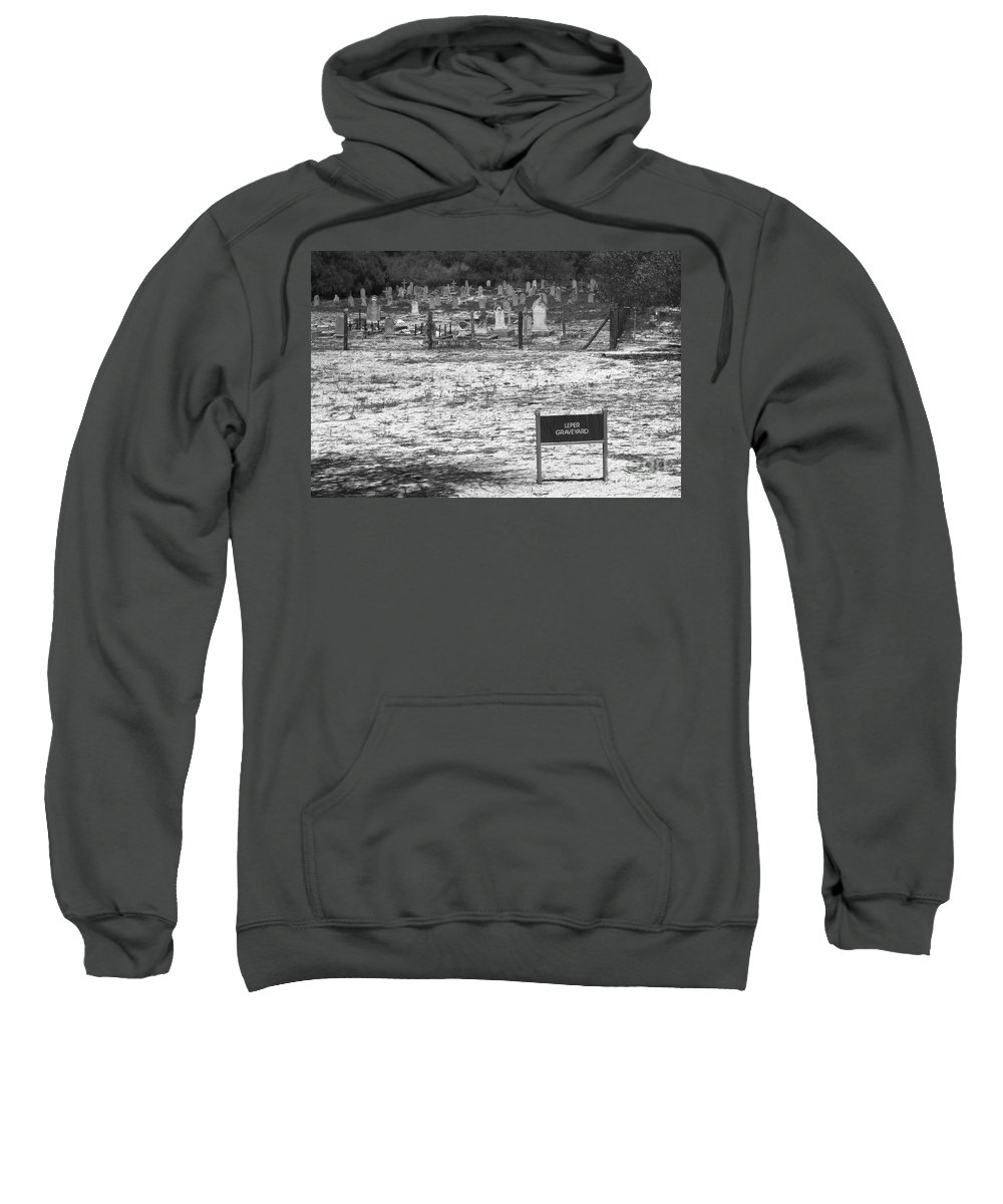 Robben Island Sweatshirt featuring the photograph Leper Graveyard On Robben Island by Aidan Moran