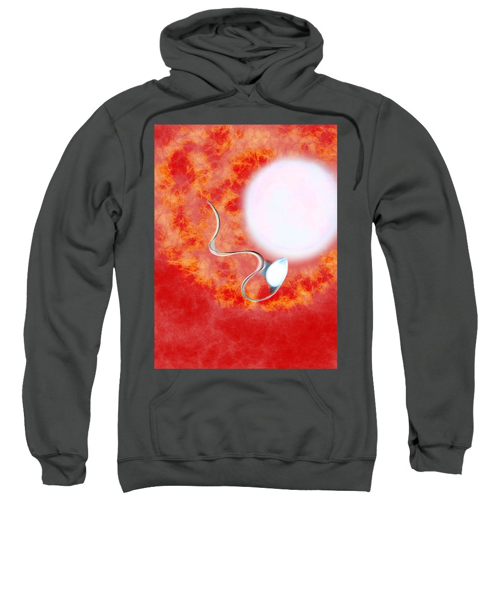 Sweatshirt featuring the digital art Life And I Win by Mathieu Lalonde