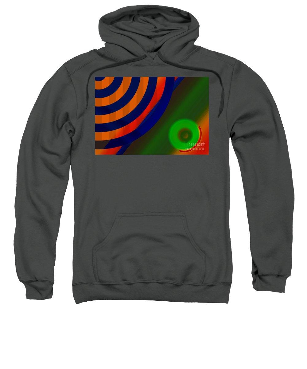 Life Saver Sweatshirt featuring the digital art Life Savers by Tom Hubbard
