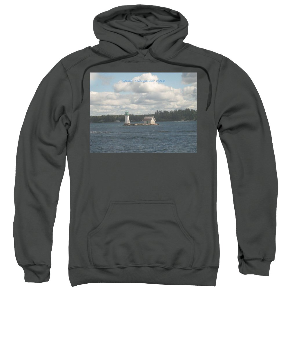 The Lighthouse Sweatshirt featuring the photograph Lighthouse Island by Sonali Gangane