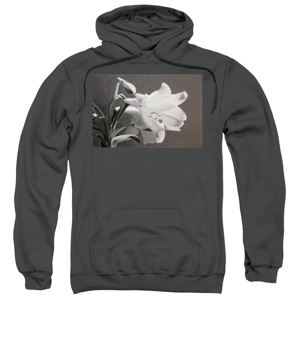 Florals Sweatshirt featuring the photograph Lilies by Linda Dunn