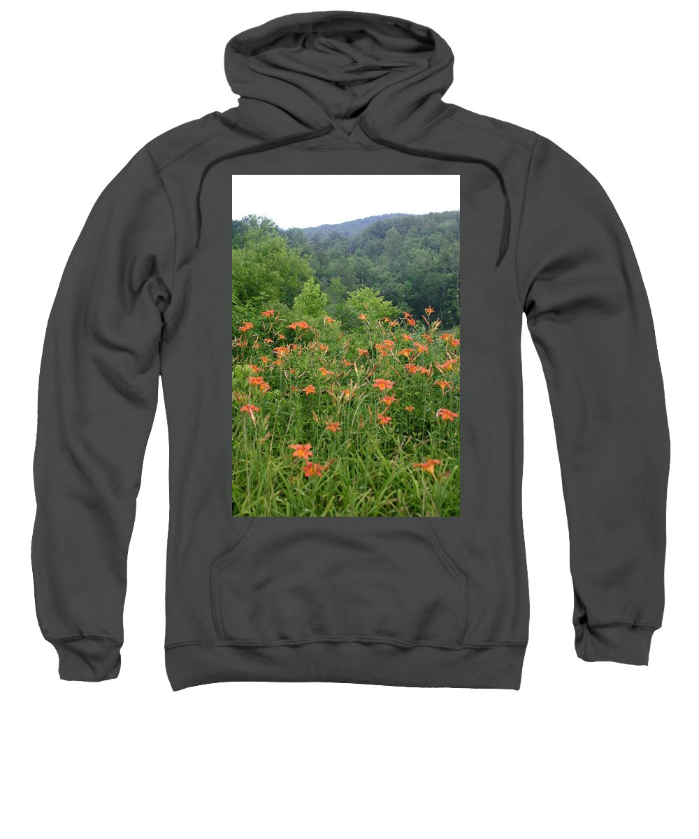 Lillies Sweatshirt featuring the photograph Lillies 2 by Leann DeBord