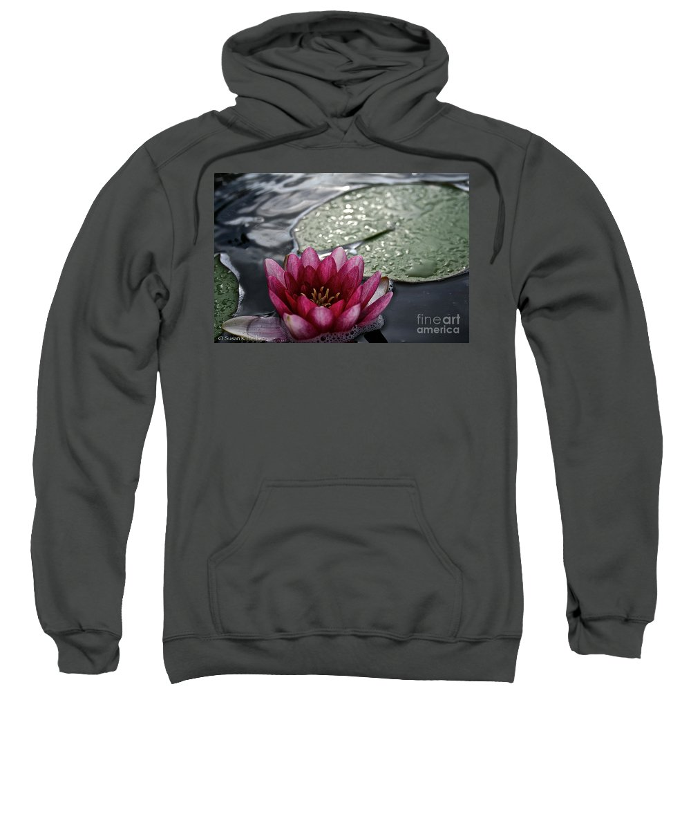 Floral Sweatshirt featuring the photograph Lily And Pad by Susan Herber