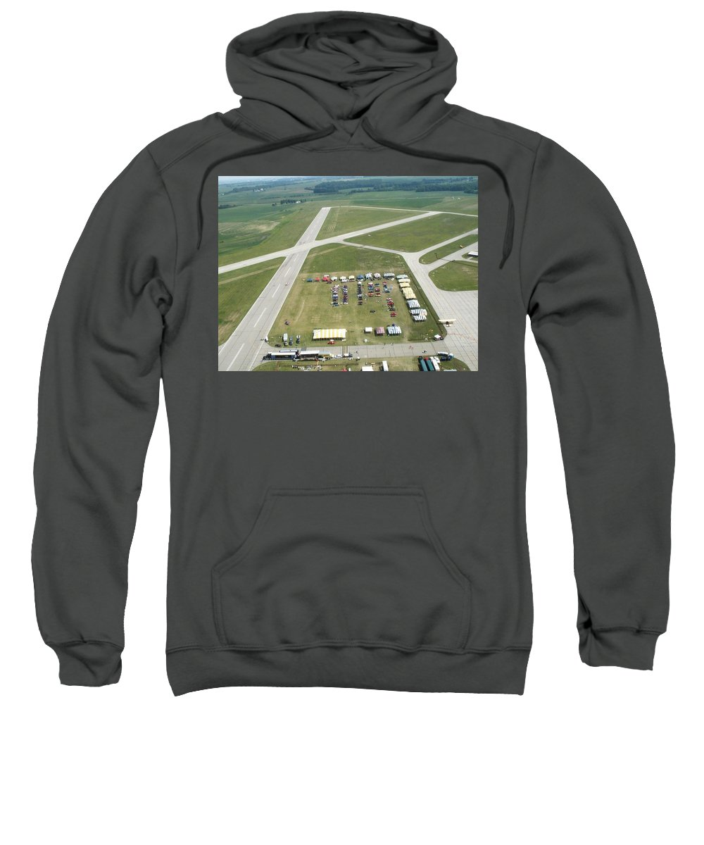 Lincoln Sweatshirt featuring the photograph Lincoln Il Airport by Thomas Woolworth