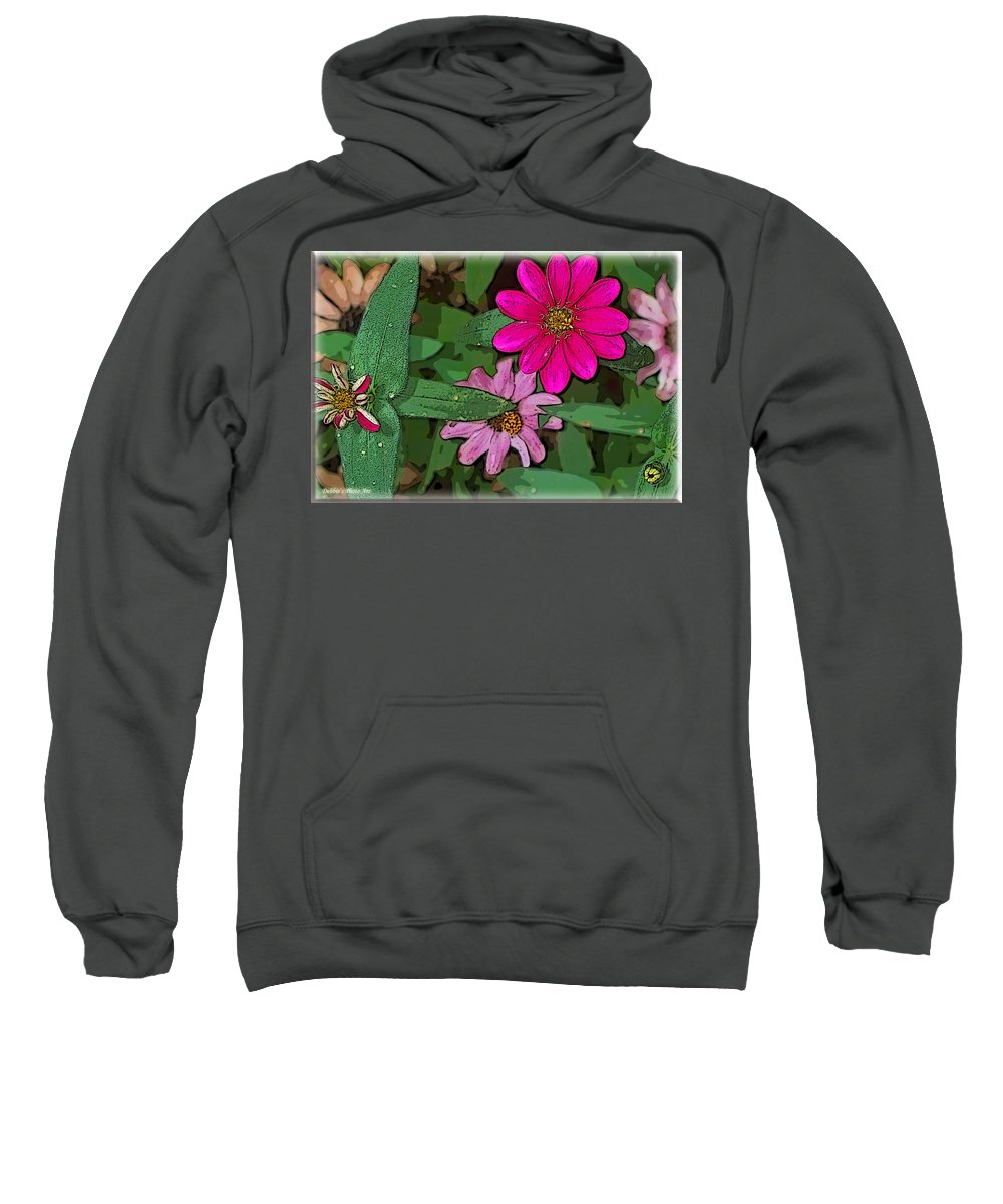 Nature Sweatshirt featuring the photograph Little Pinks by Debbie Portwood