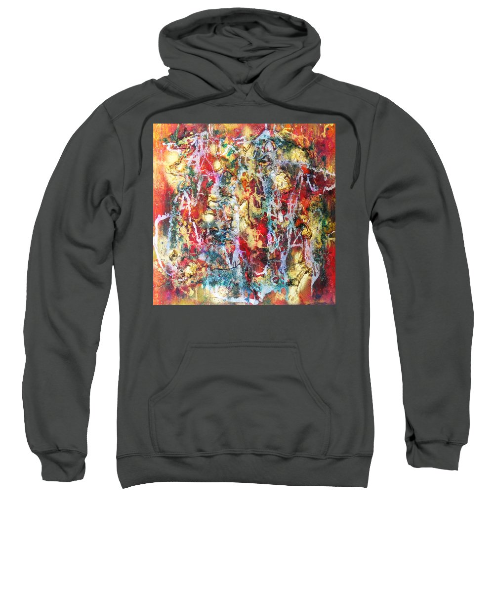 Abstract Sweatshirt featuring the painting Live To Give by Yael VanGruber
